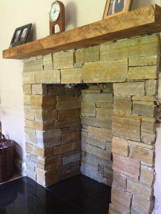 Copy of Sandstone fireplace