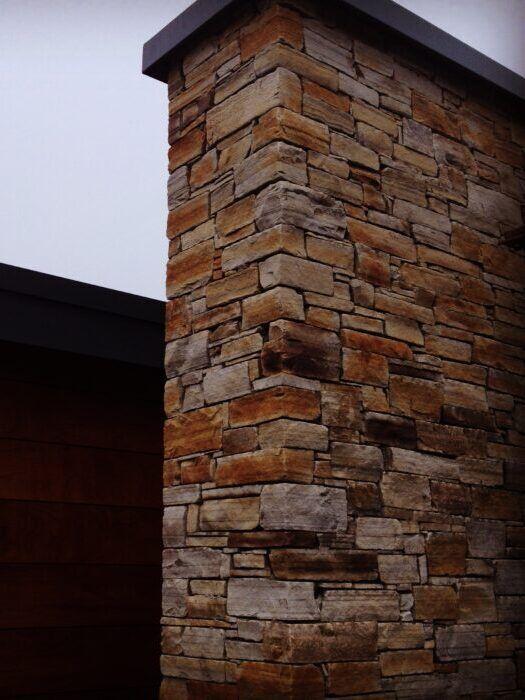 Sandstone house chimney_