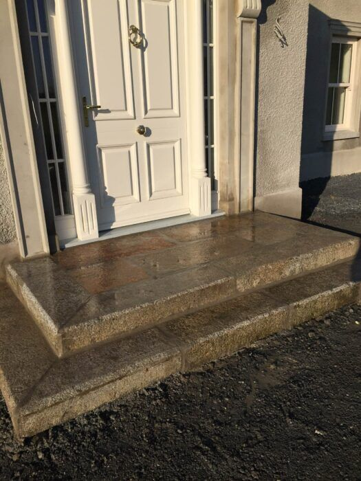 Stone paved steps