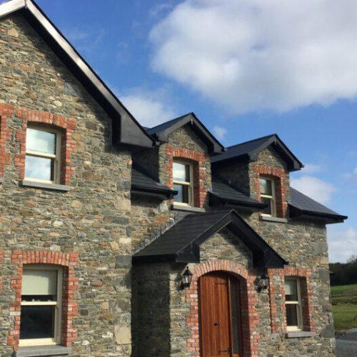 7. Limestone house salavged red brick